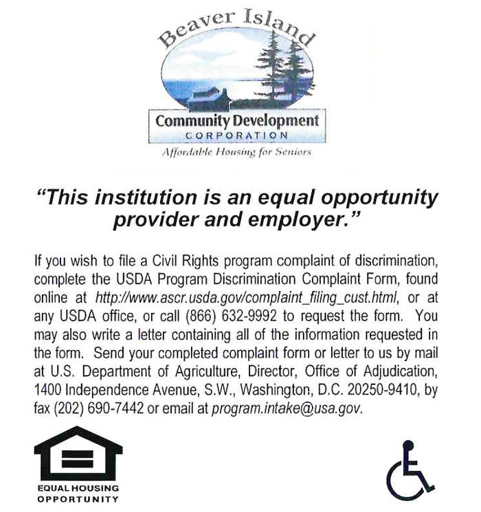 Beaver Island Community Development Corporation is an equal opportunity provider and employer